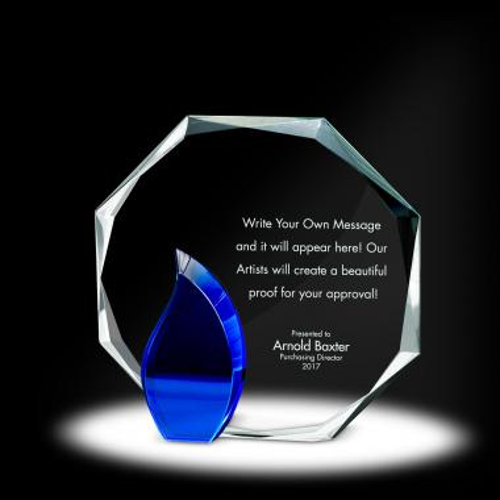 Flame Octagon Crystal Award