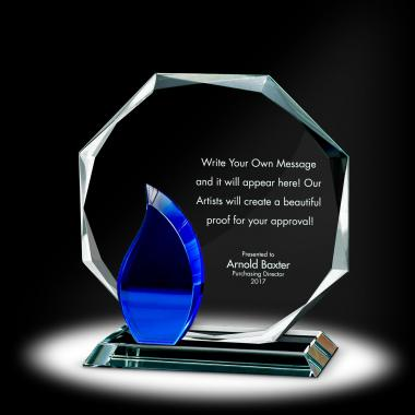 Flame Octagon Crystal Award