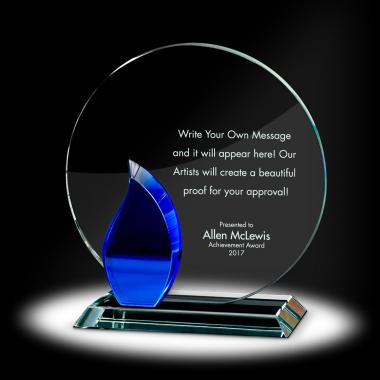 Flame Circle Crystal Award