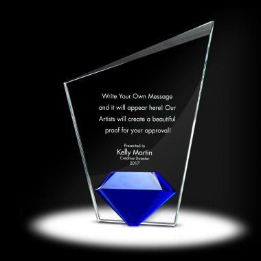 Diamond Torch Crystal Award