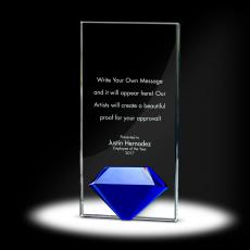 Glass Trophies - Diamond Tower Crystal Award
