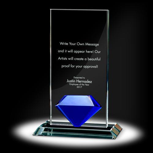 Diamond Tower Crystal Award