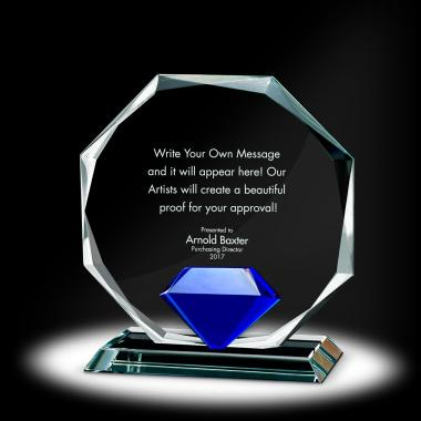 Diamond Octagon Crystal Award