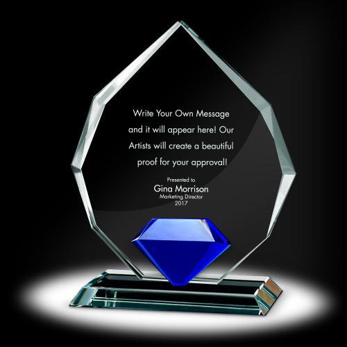 Diamond Radiant Crystal Award