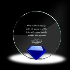 Trophy Awards - Diamond Circle Crystal Award