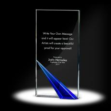 Color Accents - Spire Tower Crystal Award