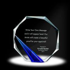Color Accents - Spire Octagon Crystal Award