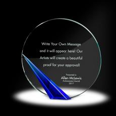 Color Accents - Spire Circle Crystal Award