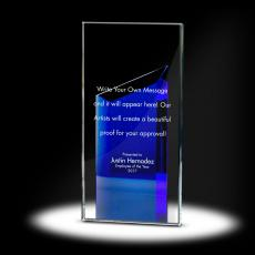 Color Accents - Peak Tower Crystal Award