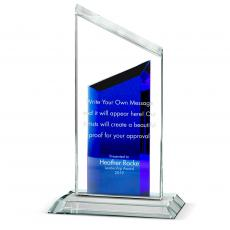 Color Accents - Double Peak Crystal Award