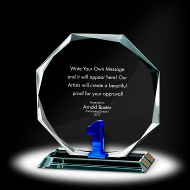 Years of Service Octagon Crystal Award