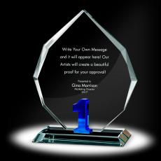 Color Accents - Years of Service Radiant Crystal Award