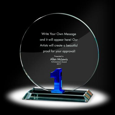 Years of Service Circle Crystal Award