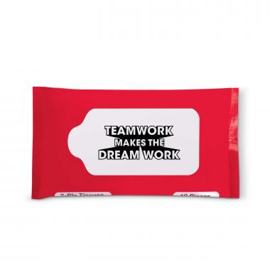 Teamwork Dream Work Travel Tissue Pack