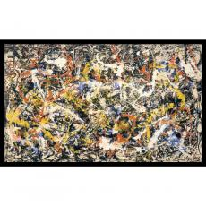 Abstract - Jackson Pollock Convergence Office Art