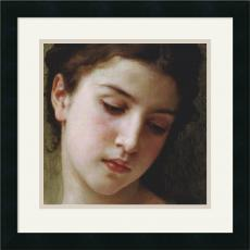 William-Adolphe Bouguereau Head Study of a Young Girl (detail) Office Art