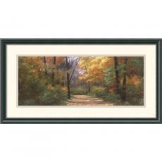 Diane Romanello Autumn Road Panel Office Art