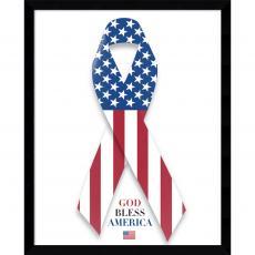U.S. Flag and Ribbon Office Art