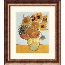 Vincent van Gogh Sunflowers on Blue, 1888 Office Art