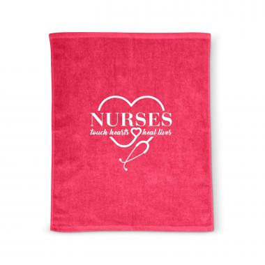 Nurses Touch Hearts Rally Towel