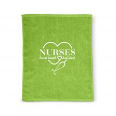 Nurses Gifts - Nurses Touch Hearts Rally Towel