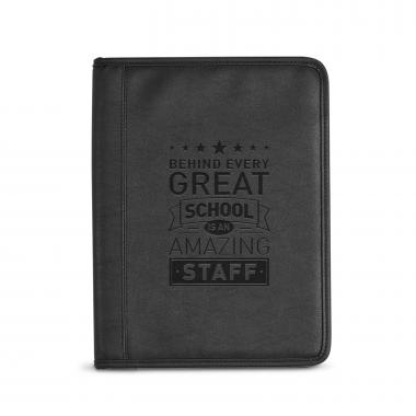 Behind Every Great School Debossed Writing Padfolio