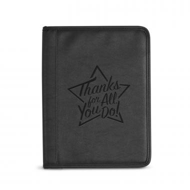 Thanks for All You Do Star Debossed Writing Padfolio