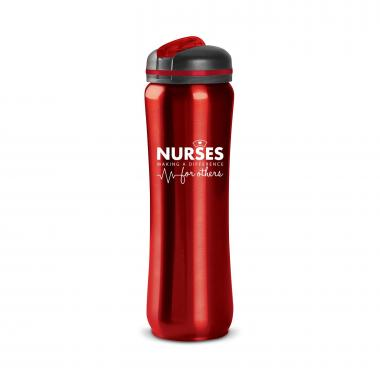 Nurses Making a Difference 28oz Curvilinear Stainless Bottle