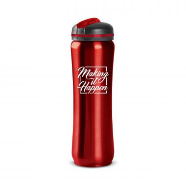 Making it Happen Square 28oz Curvilinear Stainless Bottle