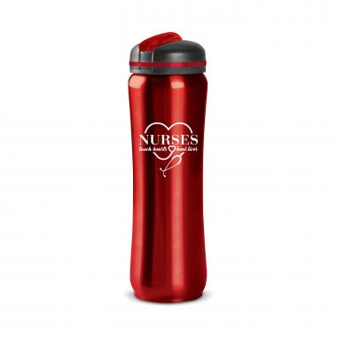 Nurses Touch Hearts 28oz Curvilinear Stainless Bottle