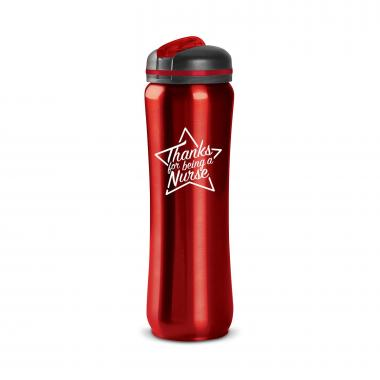 Thanks Nurse Star 28oz Curvilinear Stainless Bottle