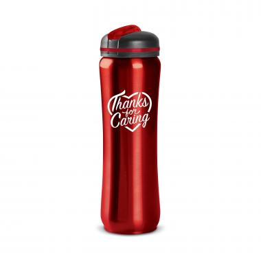 Thanks for Caring 28oz Curvilinear Stainless Bottle