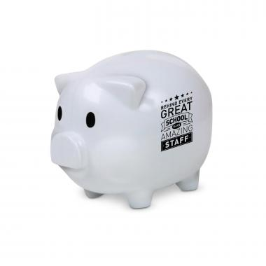 Behind Every Great School Piggie Bank White