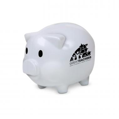 Great Teachers Piggie Bank White