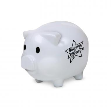 Making a Difference Piggie Bank White