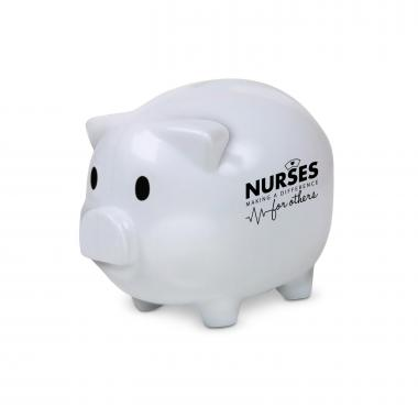 Nurses Making a Difference Piggie Bank White