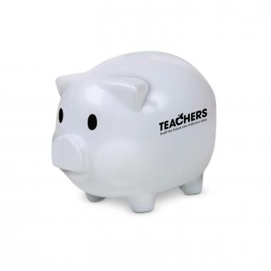 Teachers Build Futures Piggie Bank White