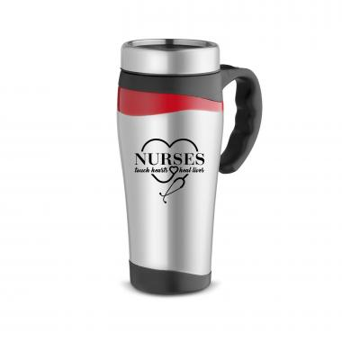 Nurses Touch Hearts 16oz Stainless Mug