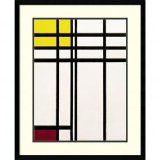 Piet Mondrian Opposition of Lines Red and Yellow Office Art