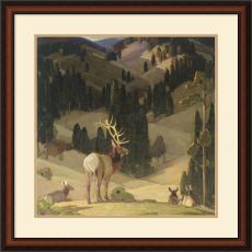 W. Herbert Dunton October in the Mountains Office Art