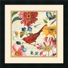 Lisa Audit Rainbow Garden III Cream Office Art