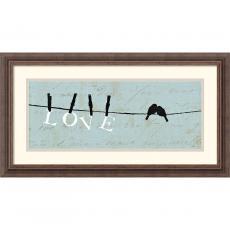 Alain Pelletier Birds on a Wire Love Office Art