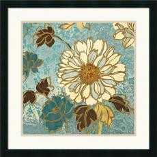Wild Apple Sophias Flowers II Blue Office Art