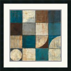 Mike Schick Tango Detail I - Blue Brown Office Art