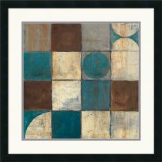 Mike Schick Tango Detail II - Blue Brown Office Art