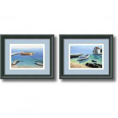 Beach & Ocean - Frane Mlinar Peaceful Morning - set of 2 Office Art