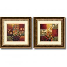 Geometric - Jill Deveraux Orchids - set of 2 Office Art