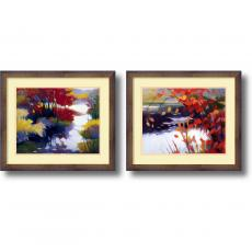 Office Art - Tadashi Asoma Water and Color - set of 2 Office Art