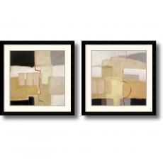 Craig Alan Urban Grid - set of 2 Office Art