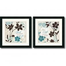 Lisa Audit Botanical Touch Quote - set of 2 Office Art